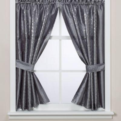 Infinity Bathroom Window Curtain Panels