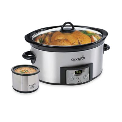 Crock-Pot® Stainless Steel 6-Quart Countdown Oval Slow Cooker with Dipper