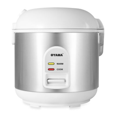Oyama 5-Cup Stainless Steel Rice Cooker, Warmer, Steamer