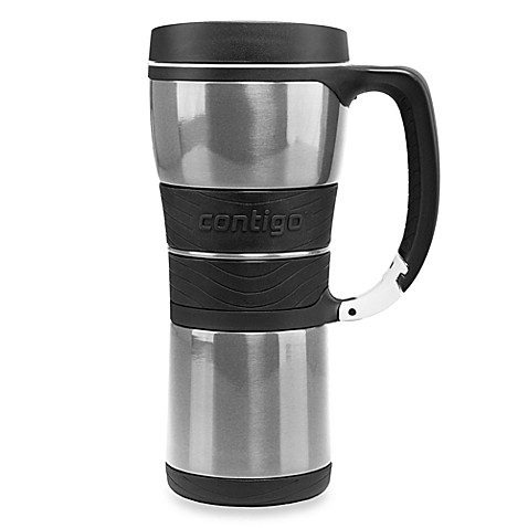 Vacuum Insulated 16-Ounce Stainless Steel Mug with Carabineer Clip