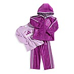 Adidas® Kids Fuschia 3-Piece Velour Set