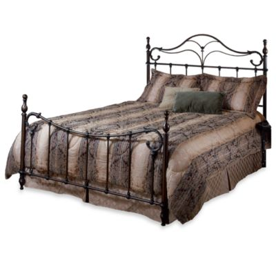 Hillsdale Bennett Queen Complete Bed in Antique Bronze