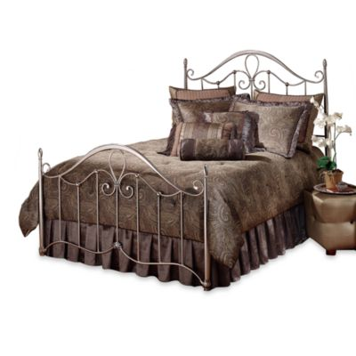 Hillsdale Doheny Queen Complete Bed in Pewter