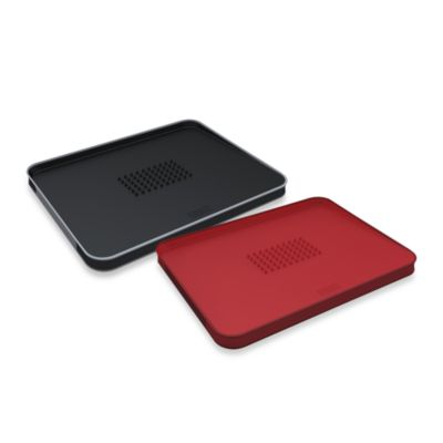 Joseph Joseph® Cut&Carve™ Plus Multi-Function Chopping Board in Black