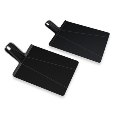Joseph Joseph® Chop2Pot™ Plus Black Folding Chopping Board in Black