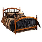 Hillsdale Burton Way King Complete Bed in Cherry