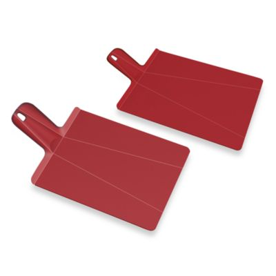 Joseph Joseph® Chop2Pot™ Plus Folding Chopping Board in Red