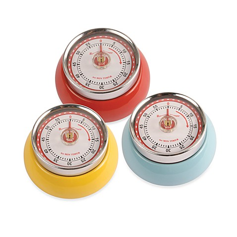 Kikkerland® Magnetic Retro Kitchen Timer