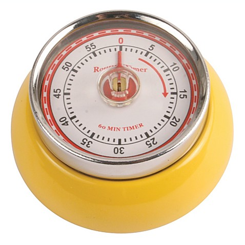 Kikkerland® Magnetic Retro Kitchen Timer in Yellow