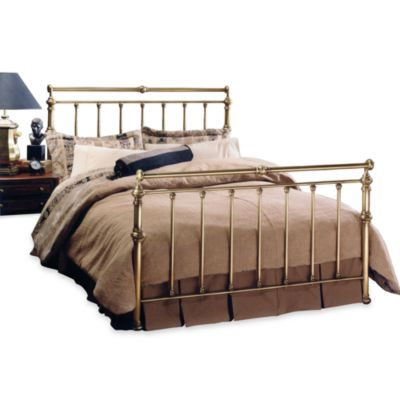 Hillsdale Charleston Full Complete Bed in Brass