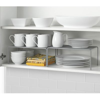 .ORG Metal Mesh 2-Piece Expandable Cabinet Shelves