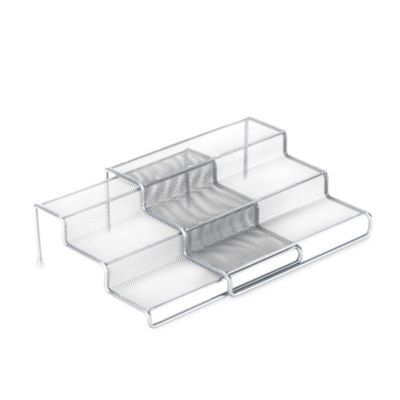 3-Tier Expandable Metal Mesh Shelf