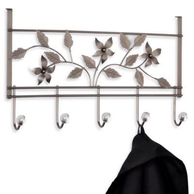 Over-The-Door 5-Hook Floral Hook Rack - Pewter