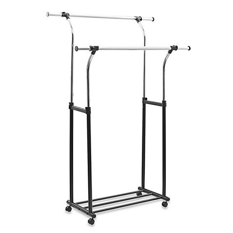 Mobile Chrome Flared Parallel Garment Rack Bed Bath Amp Beyond