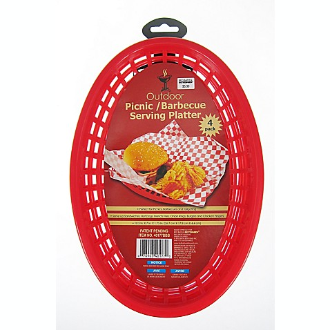 Food Serving Baskets (Set of 4)