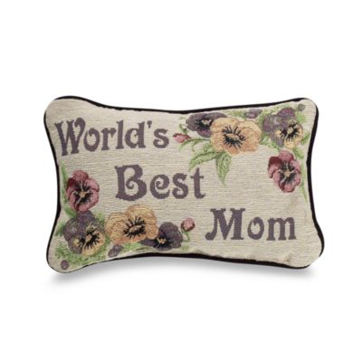World's Best Mom Decorative Toss Pillow