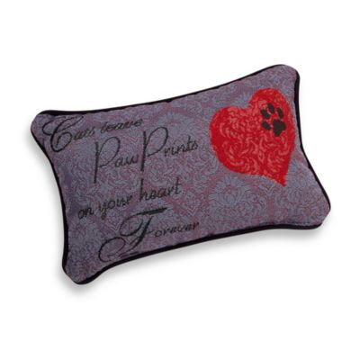 """Cats Leave Pawprints"" Decorative Toss Pillow"