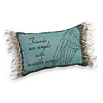 Friends are Angels Decorative Toss Pillow