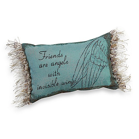 Friends are Angels Decorative Throw Pillow