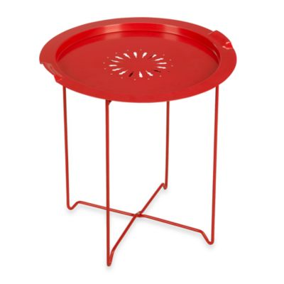 Umbra® Round Folding Tray Table in Cherry