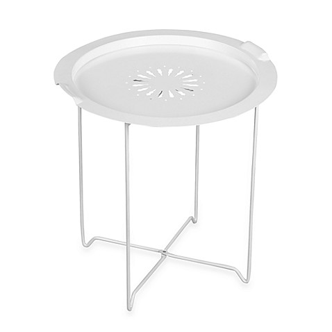 Umbra® Round Folding Tray Table in White