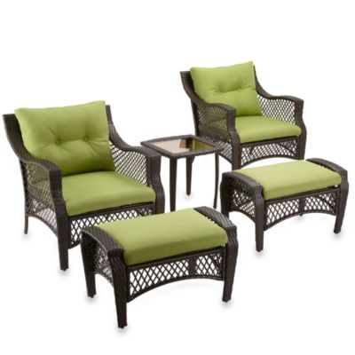 buy stratford 5 piece deep seat wicker lounge set from bed bath