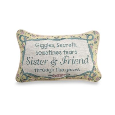 Sister and Friend Decorative Toss Pillow