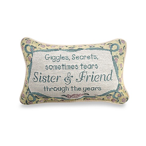 Sister and Friend Decorative Throw Pillow
