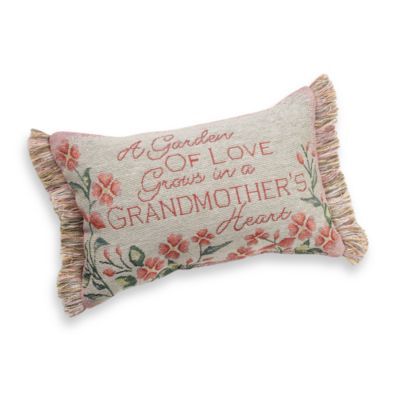 Garden of Love/Grandmother Decorative Toss Pillow