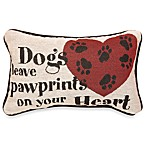 Dogs Leave Pawprints Decorative Toss Pillow