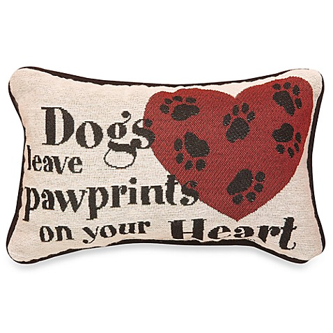 Dogs Leave Pawprints Decorative Throw Pillow