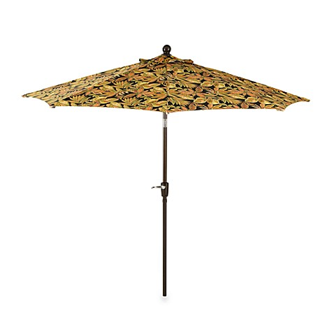 9-Foot Round Aluminum Umbrella in Black Paisley