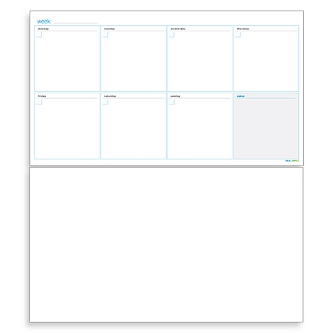 Real Simple® Dry-Erase Weekly Calender Combo Set