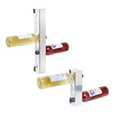 The Vynebar® Classic Mirror Finish Vertical 4-Bottle Wine Rack