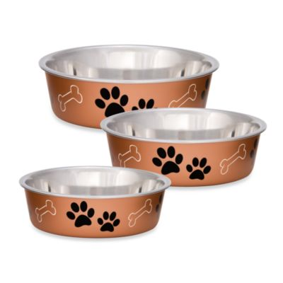 Bella Large Metallic Pet Bowl in Copper