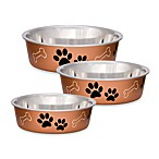 Bella Metallic Pet Bowl in Copper