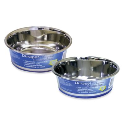 Durapet® Premium Stainless Steel 1.25-Quart Pet Bowl