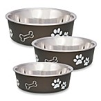 Bella Espresso Pet Bowl in Size Large