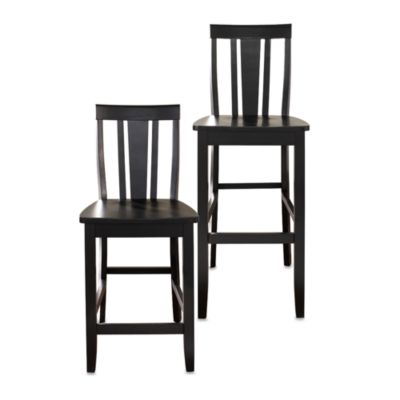 Crosley Shield-Back Bar Stools (2-Piece Sets)
