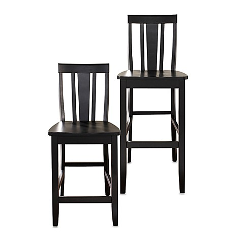 Crosley Shield-Back Barstools (Set of 2)