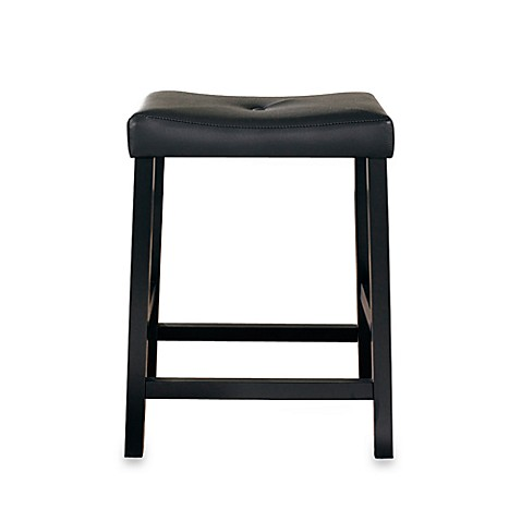 Crosley Upholstered 24 Inch Saddle Seat Bar Stools In