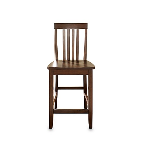 Crosley School House 24-Inch Barstools in Vintage Mahogany (Set of 2)