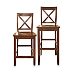 Crosley X-Back Bar Stools in Classic Cherry (Set of 2)