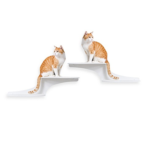 The Refined Feline™ Cat Clouds Cat Shelf™ - White