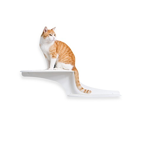 The Refined Feline Cat Clouds Cat Shelf™ - White Left Facing