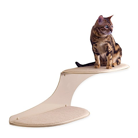 The Refined Feline Cat Clouds Cat Shelf™ - Off White Right Facing