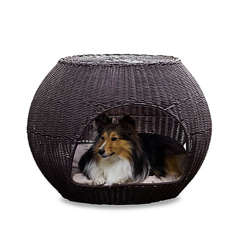 The Refined Canine™Indoor/Outdoor Igloo Pet Bed with Cushion