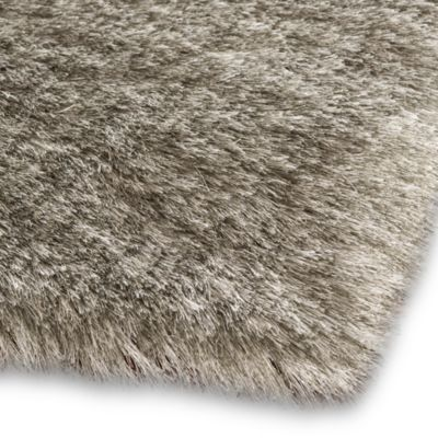 Safavieh Paris 5-Foot Round Shag Rug in Silver