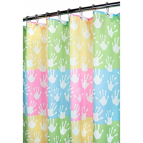 Park B. Smith® World Hands 72-Inch x 72-Inch Watershed® Shower Curtain