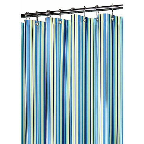 Buy Blue Stripe Fabric Shower Curtain From Bed Bath Amp Beyond